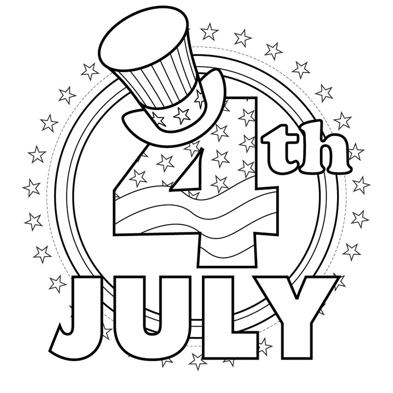 7 Images of Free Printable July Fourth Coloring