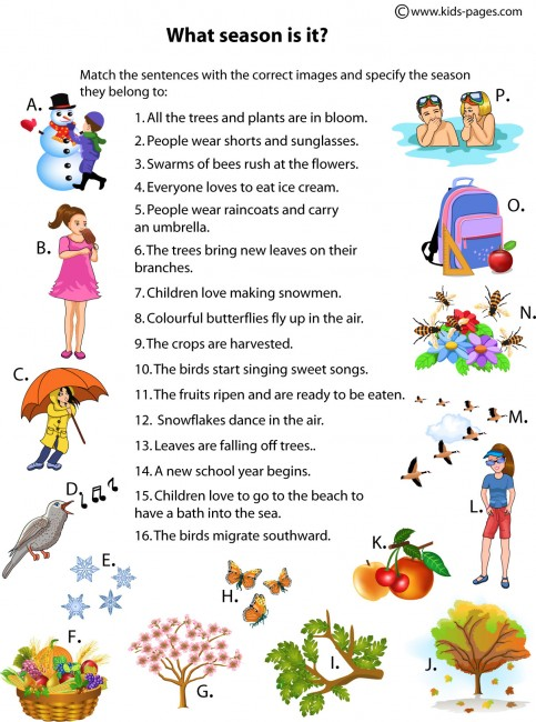 essays on winter season for kids