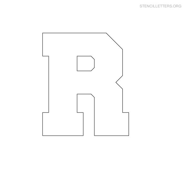 9 best images of large printable block letter r letter r coloring pages printable  printable Letter Coloring Pages for Preschoolers  Block Letter Coloring Pages