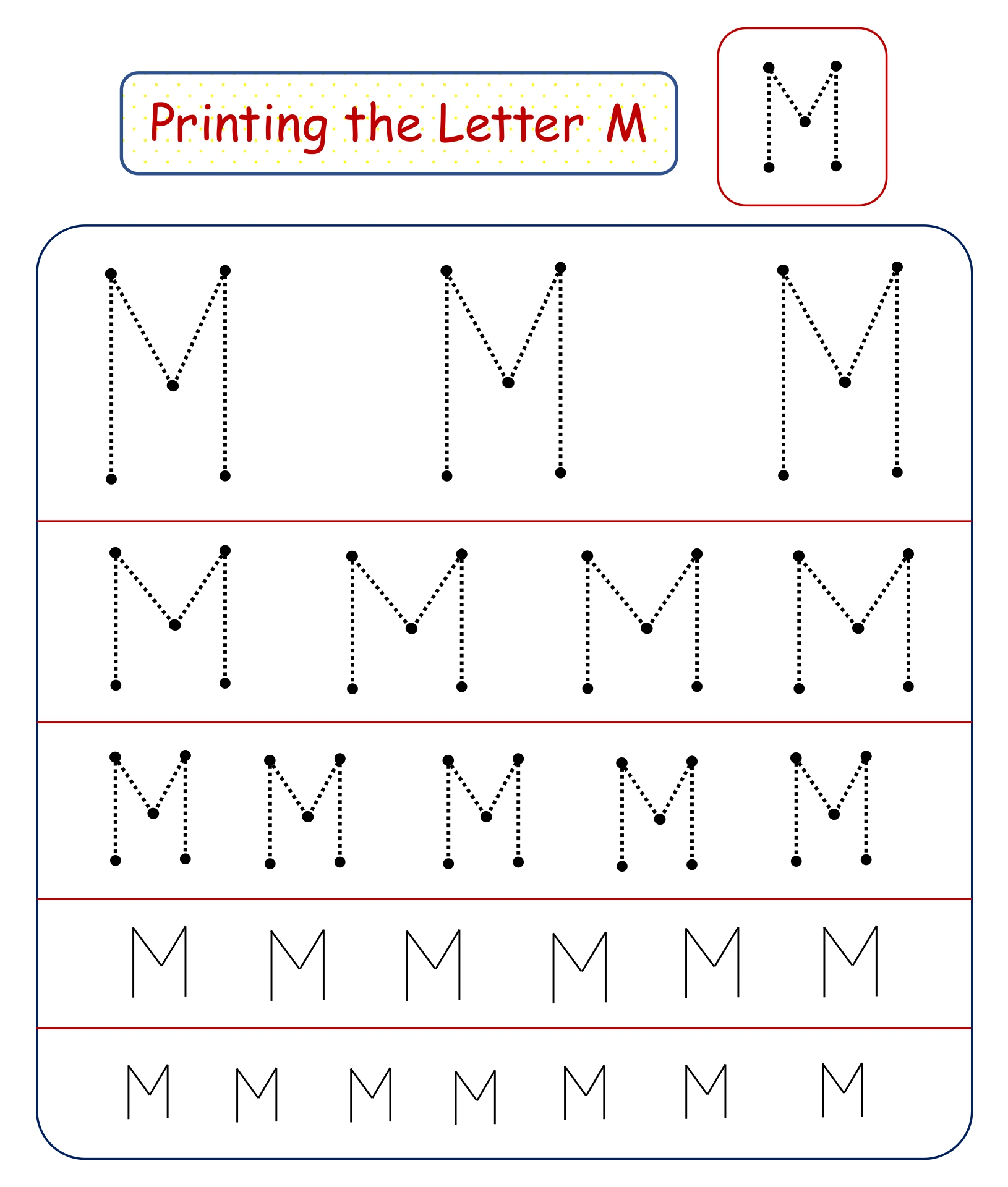 worksheet Letter M Worksheets For Kindergarten letter m worksheets free printables mm davezan