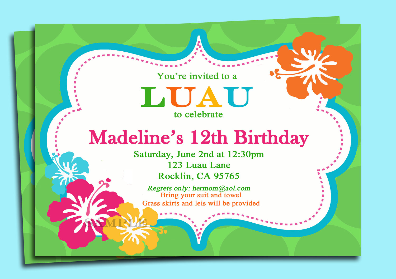 luau invitations templates free - 9 best images of free printable luau invitations free