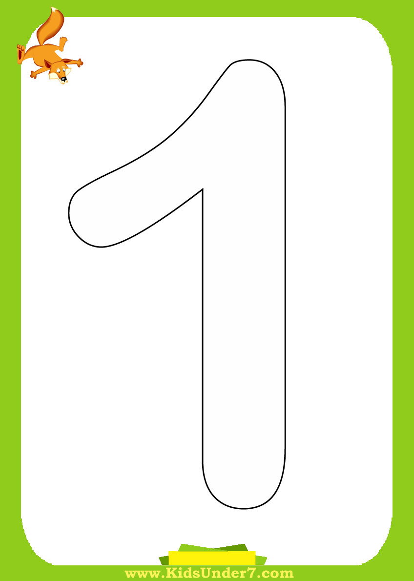5 Best Images Of Large Printable Color Numbers Number 1 Coloring Pages Printable Free
