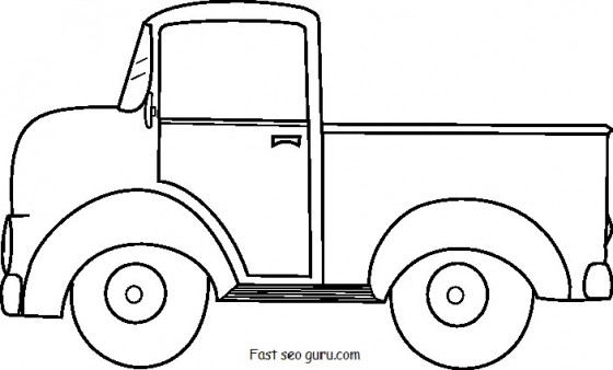 5 Images of Ford Truck Template Printable
