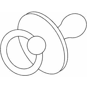 Pacifier Coloring Pages