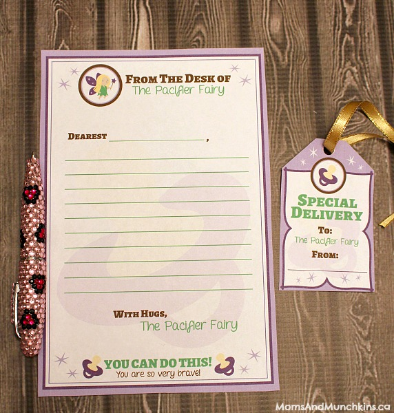 Pacifier Fairy Free Printables
