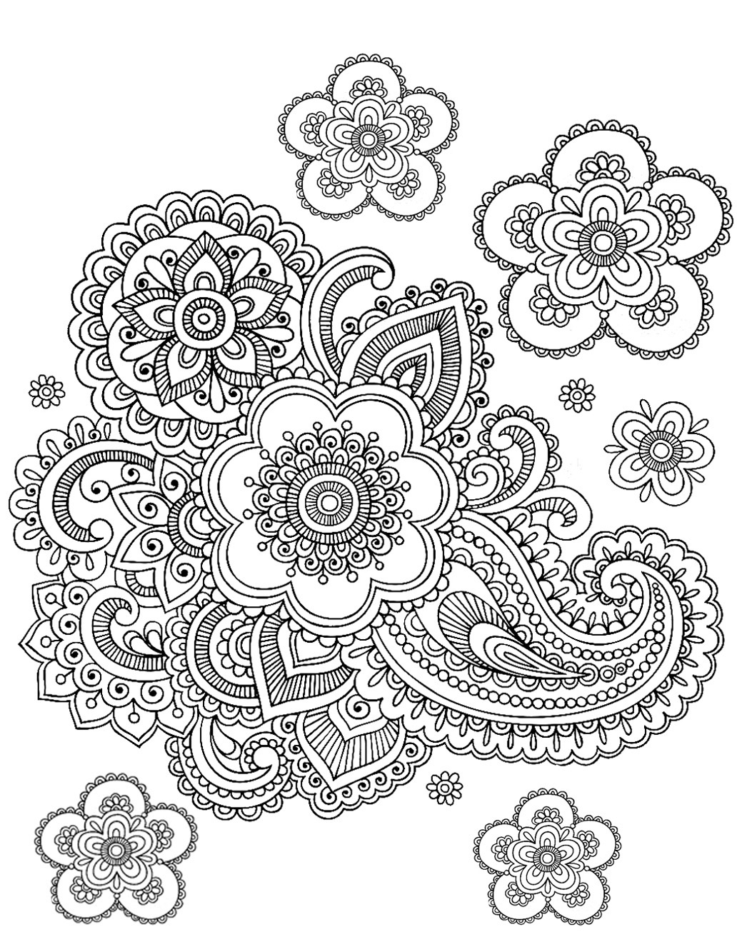 8 Images of Paisley Adult Coloring Pages Printable
