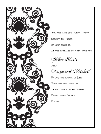 6 Images of Printable Damask Borders For Invitations