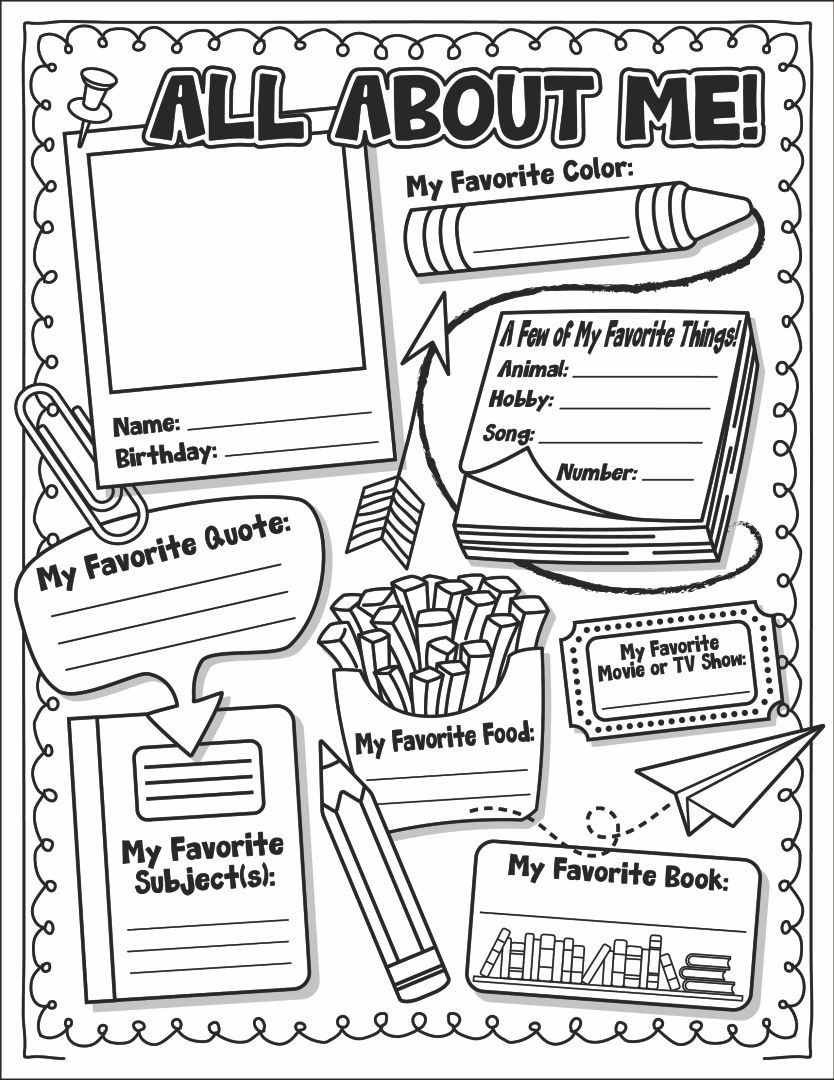 of All About Me Printable Template - All About Me Printables, All ...
