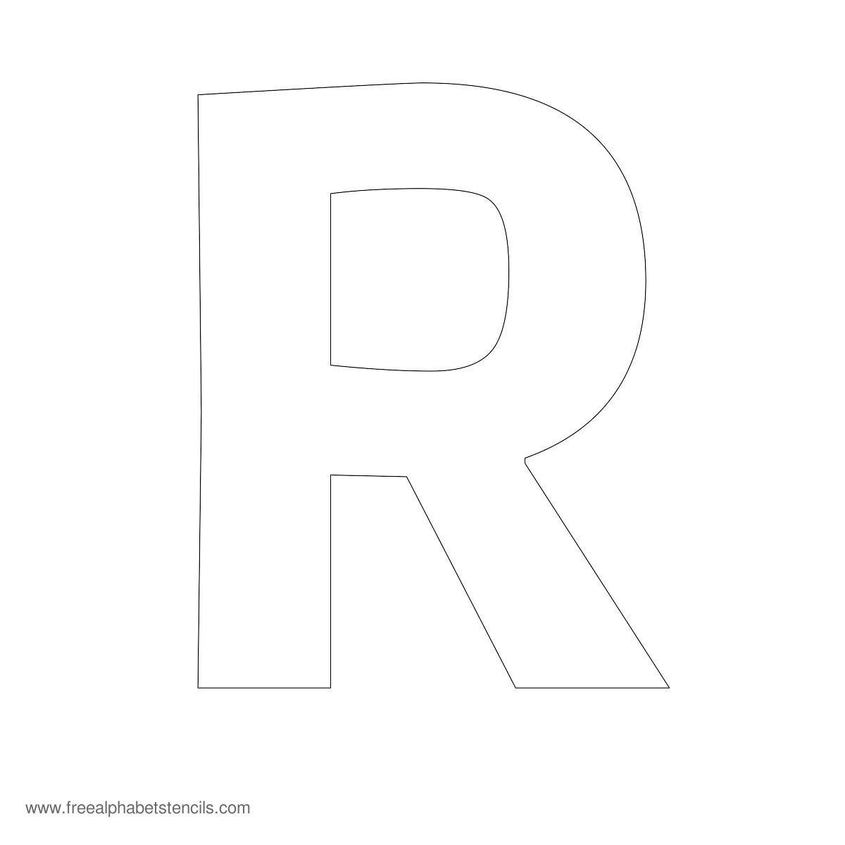 Printable Letter Stencils : Best images of large printable block letter r