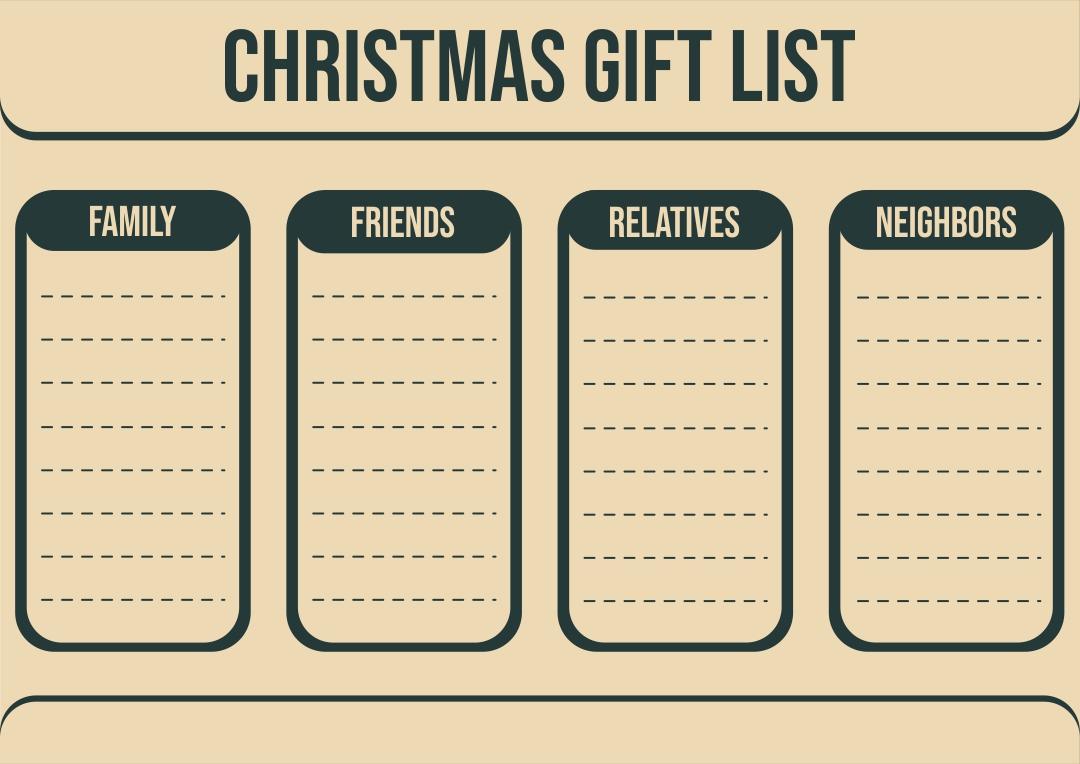 5 Images of Printable Christmas List Template