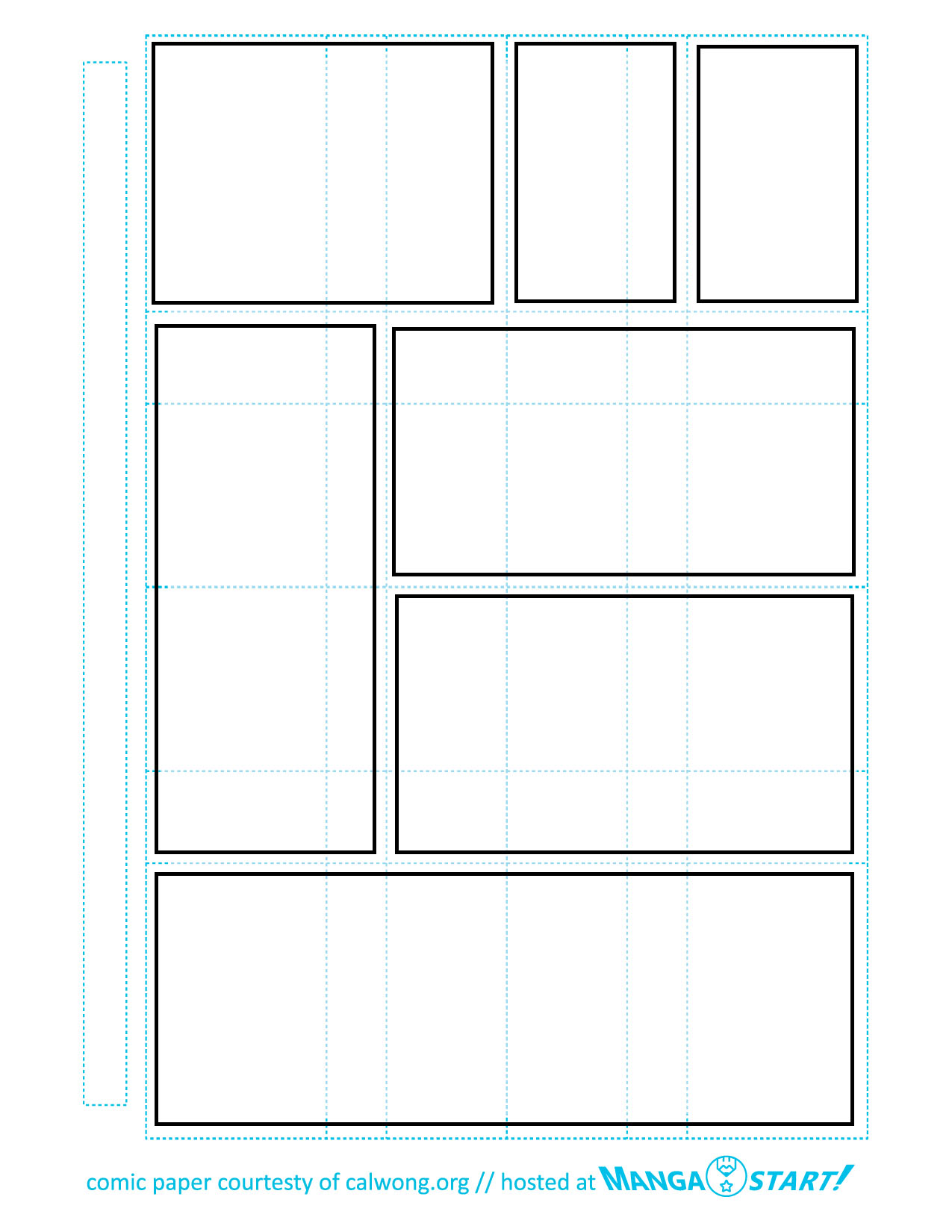 5 Images of Printable Blank Comic Panels