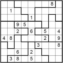 5 Images of Irregular Sudoku Printable