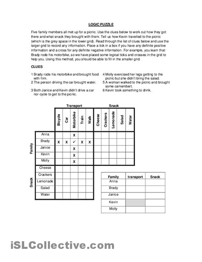 Printables Logic Puzzles Worksheets free math worksheets logic puzzles printable puzzle high school