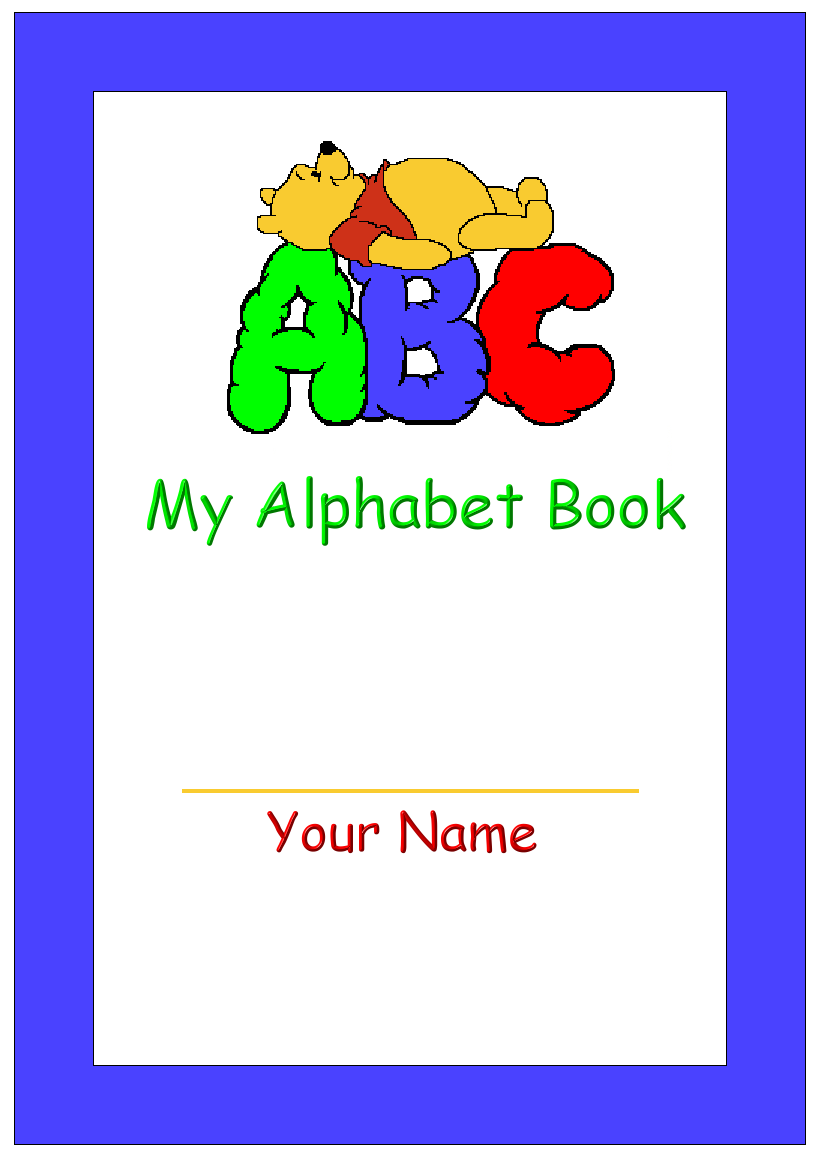 Abc Book Cover Printable : Best images of abc book printable template free