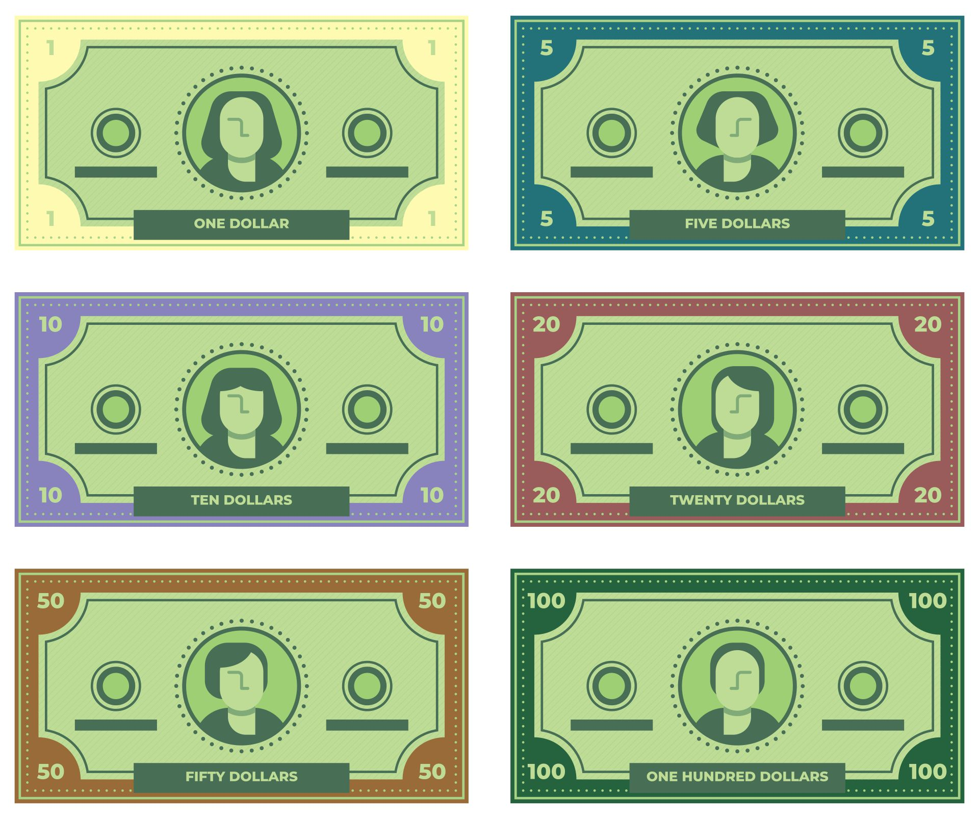 Printable Play Money Template