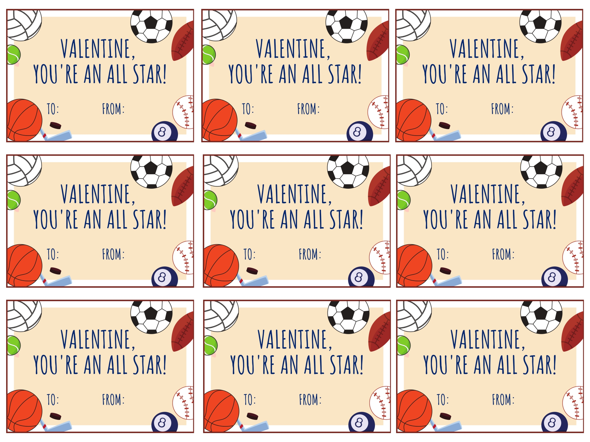 9 Images of Baseball Valentine's Day Cards Printable