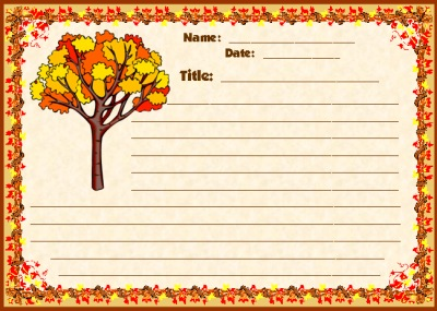 5 Images of Fall Writing Printables