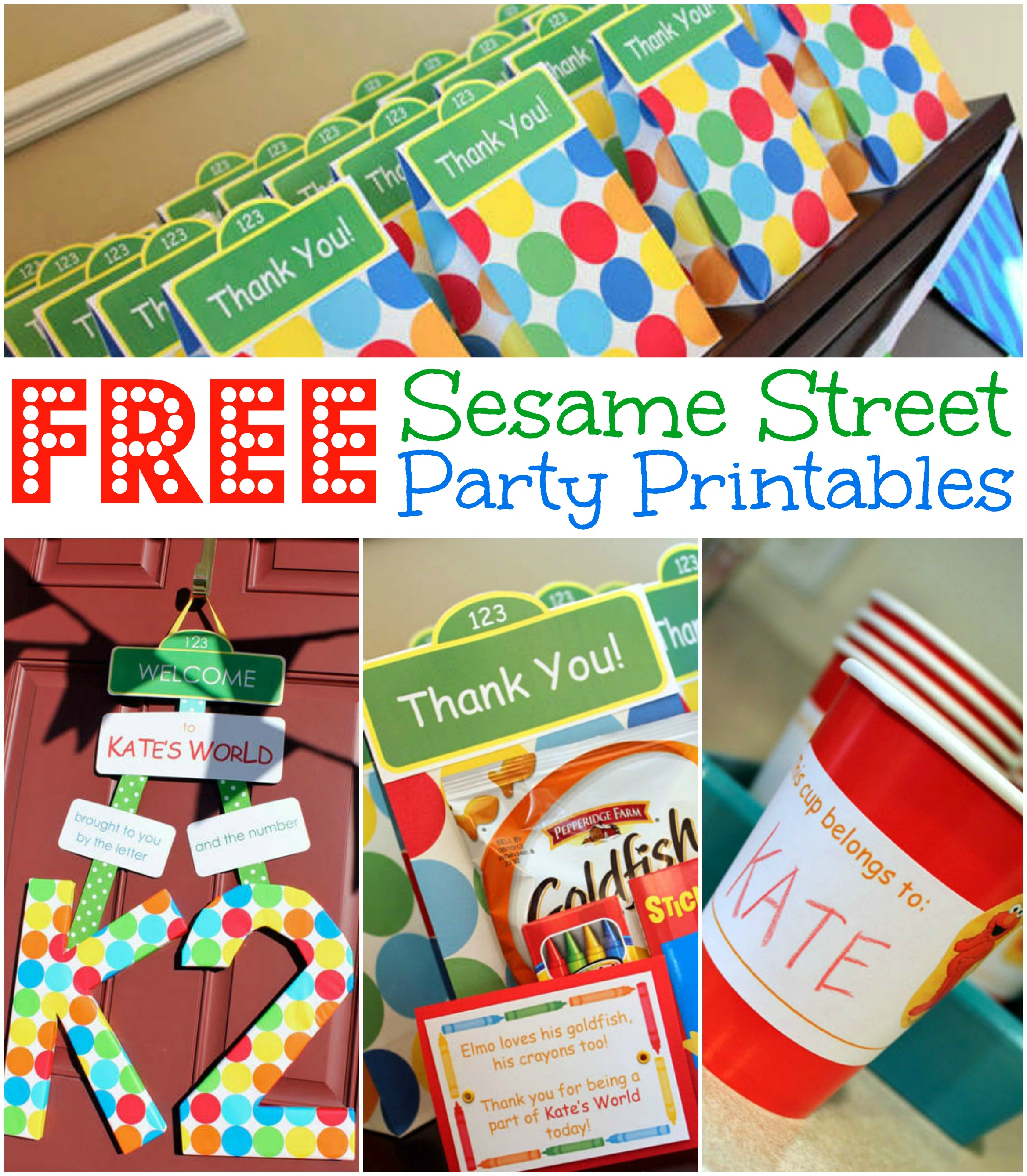 5 Images of Sesame Street Birthday Party Printables