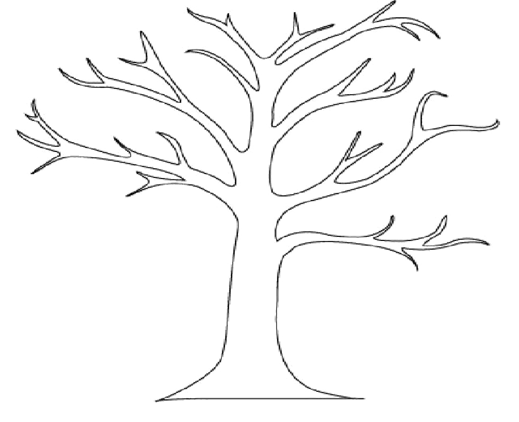 7 Images of Printable Tree Without Leaves Coloring Page