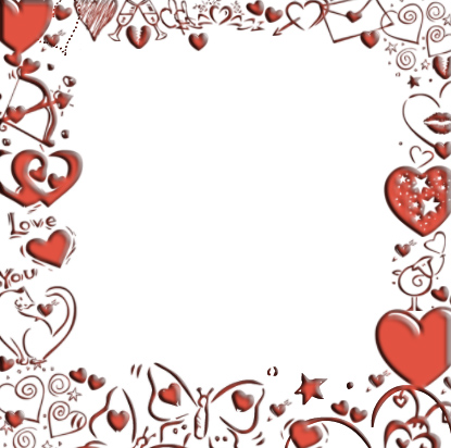 valentines day page border