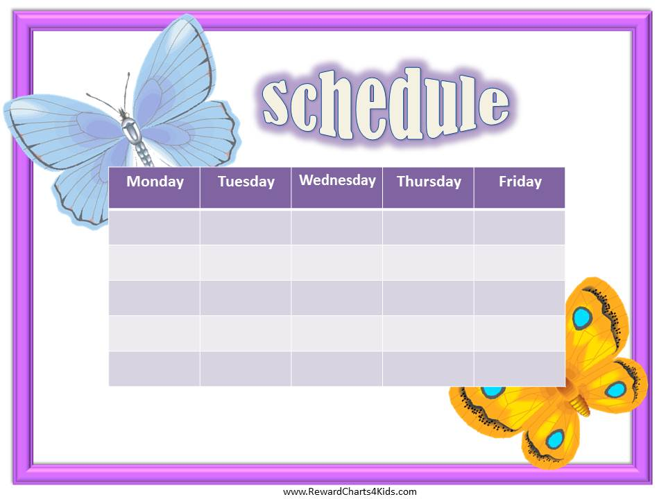 Weekly Calendar Maker : Best images of printable class schedule maker