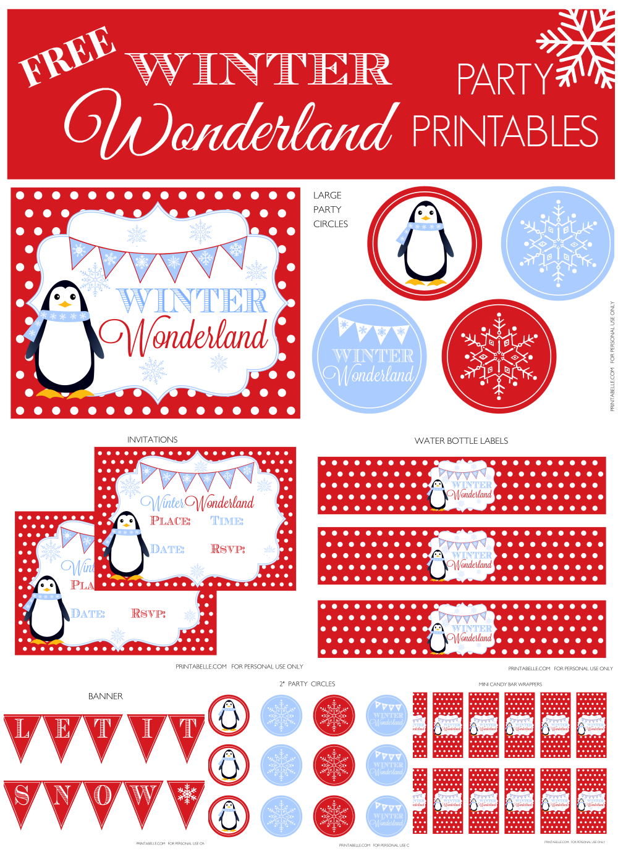 5 Images of Winter Wonderland Invitations Printable Free