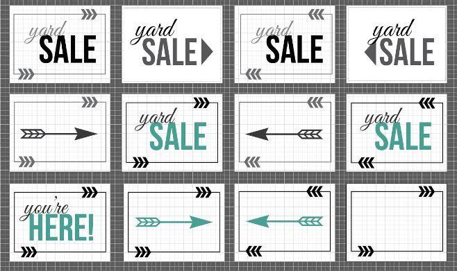 4 Images of Yard Sale Printables