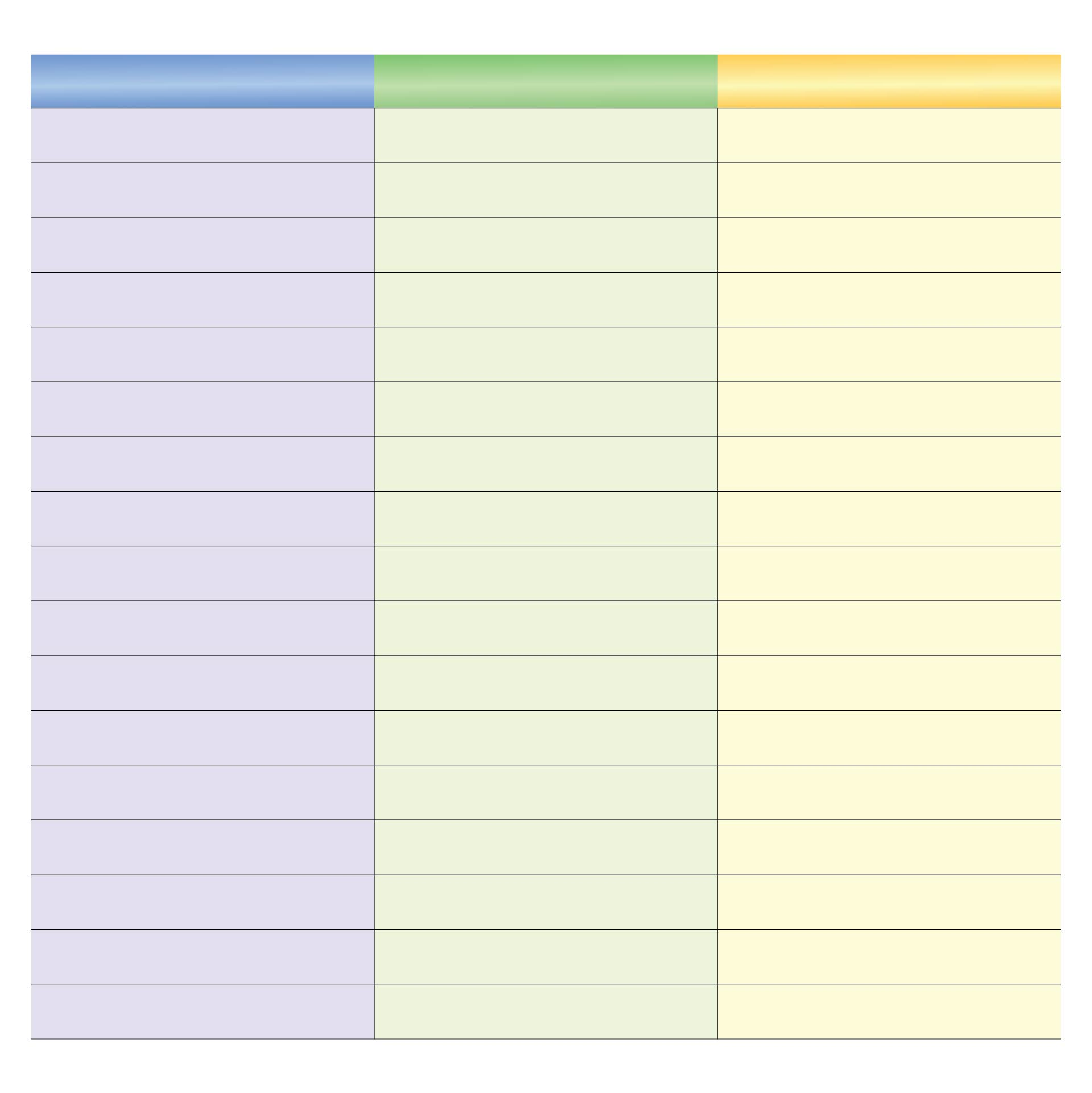 3 Column Lined Paper Template