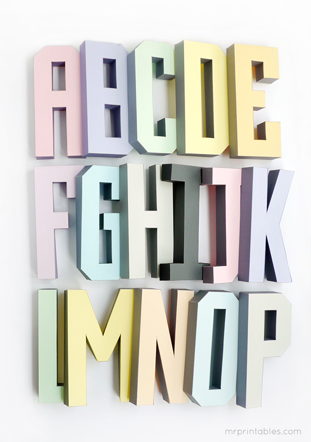 5 Images of 3D Alphabet Letters Templates Printable Free