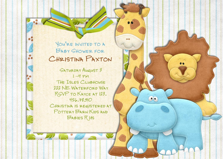 baby shower invitations printable printable safari baby shower