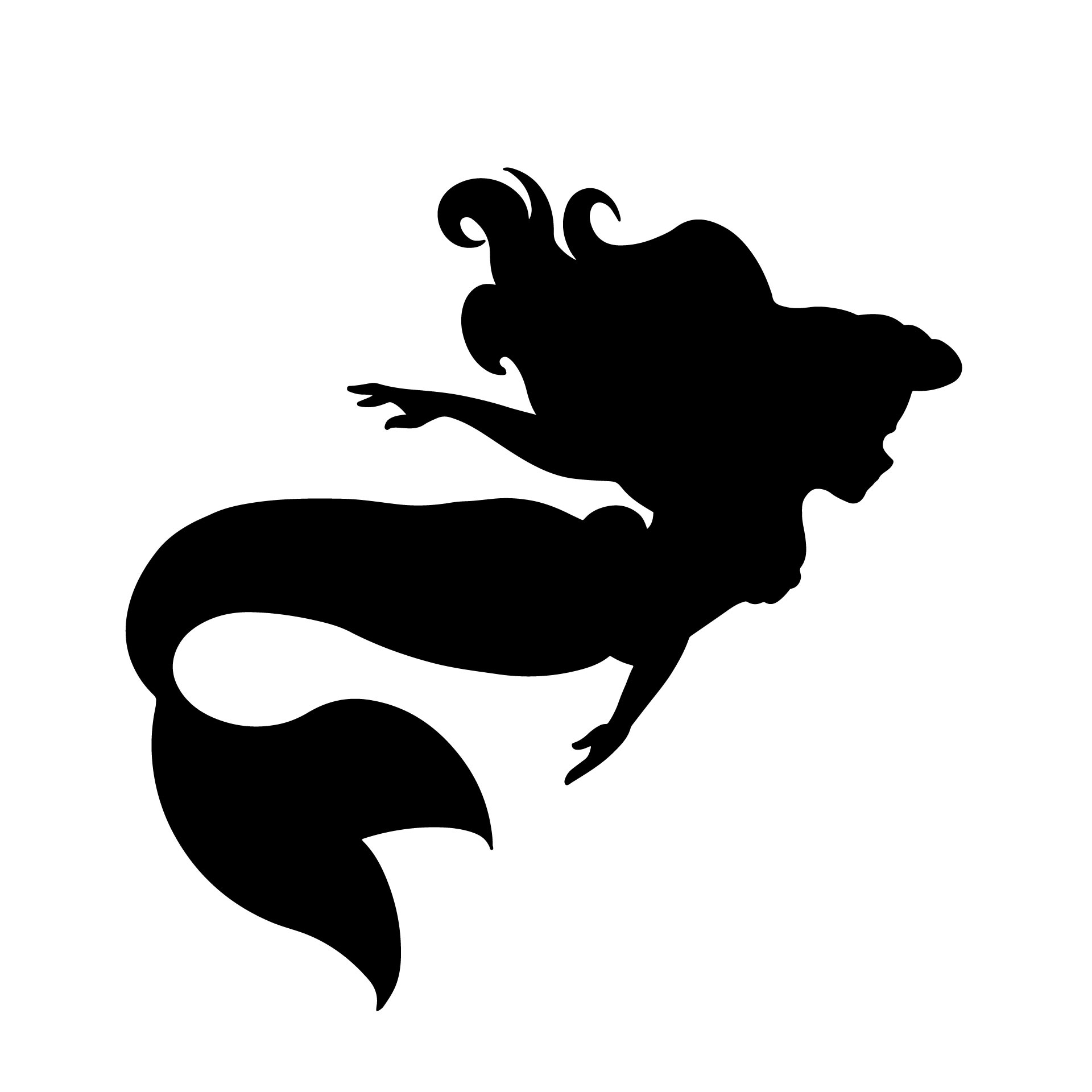 8 Images of Little Mermaid Printable Stencils