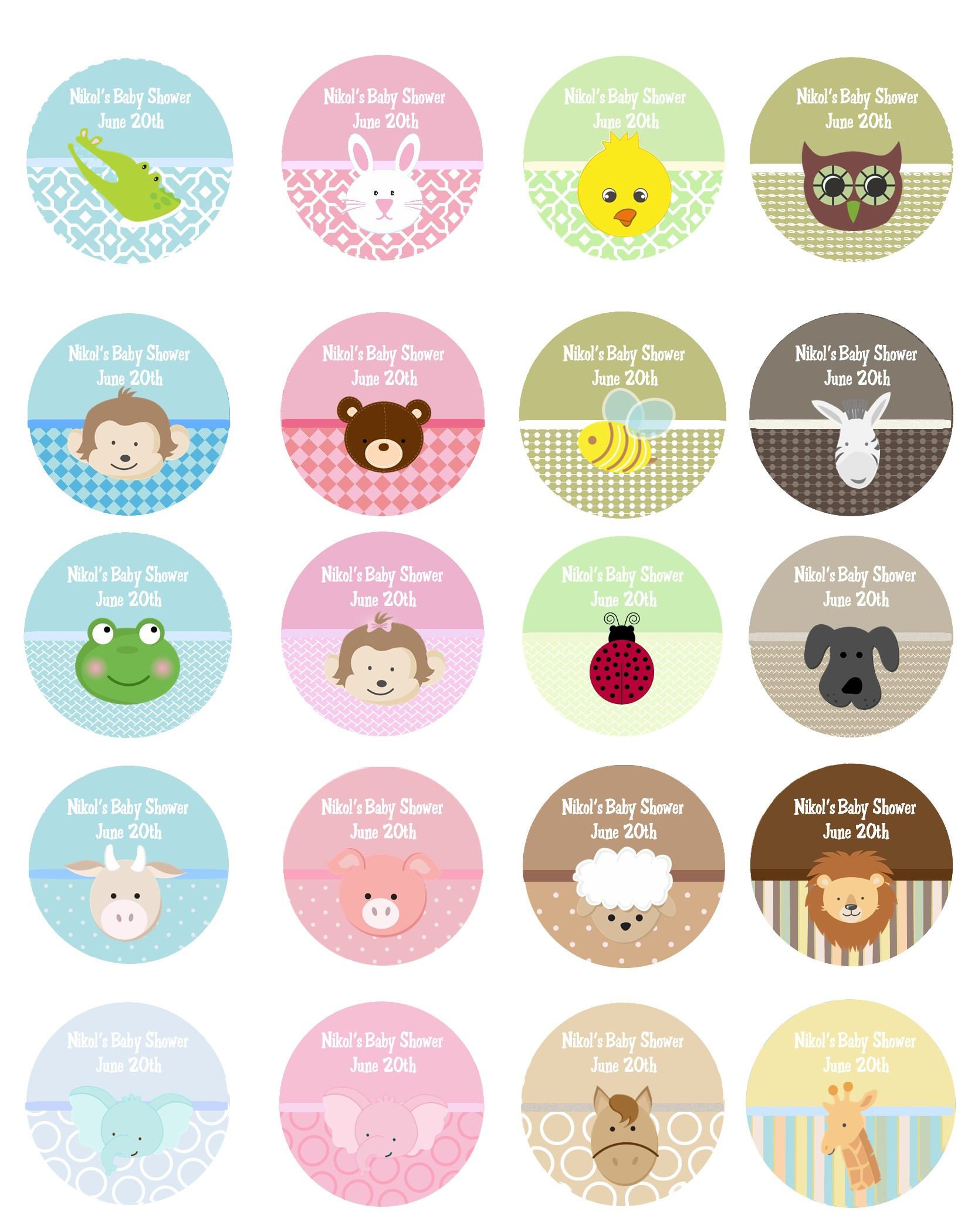 Baby Shower Personalized Stickers Labels