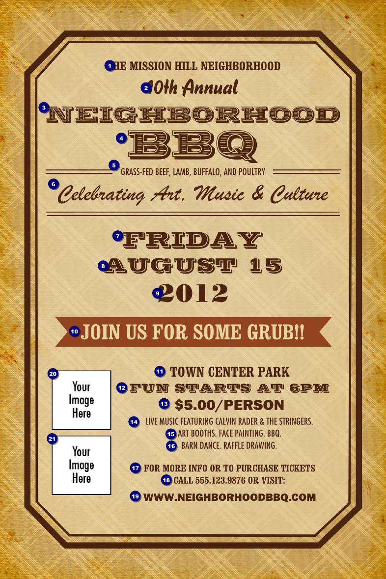 bbq ticket template free - 8 best images of bbq flyer free printables free