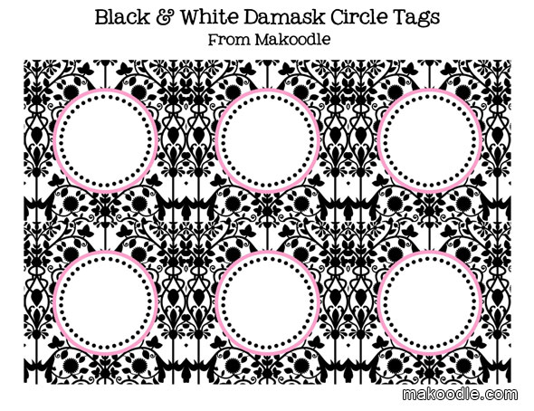 8 Images of Free Printable Damask Buffet