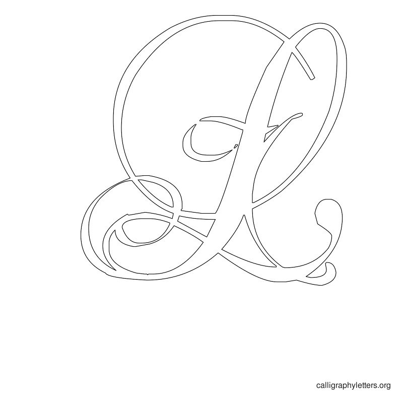 Best images of free printable calligraphy letter l