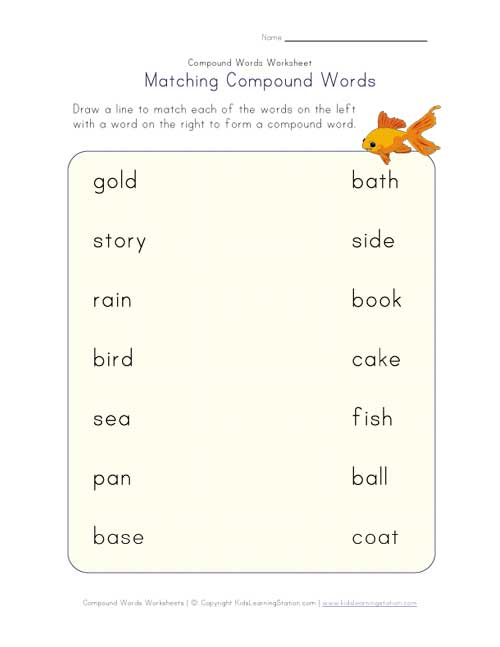 math worksheet : 5 best images of preschool printable compound word worksheets  : Compound Words Worksheets For Kindergarten