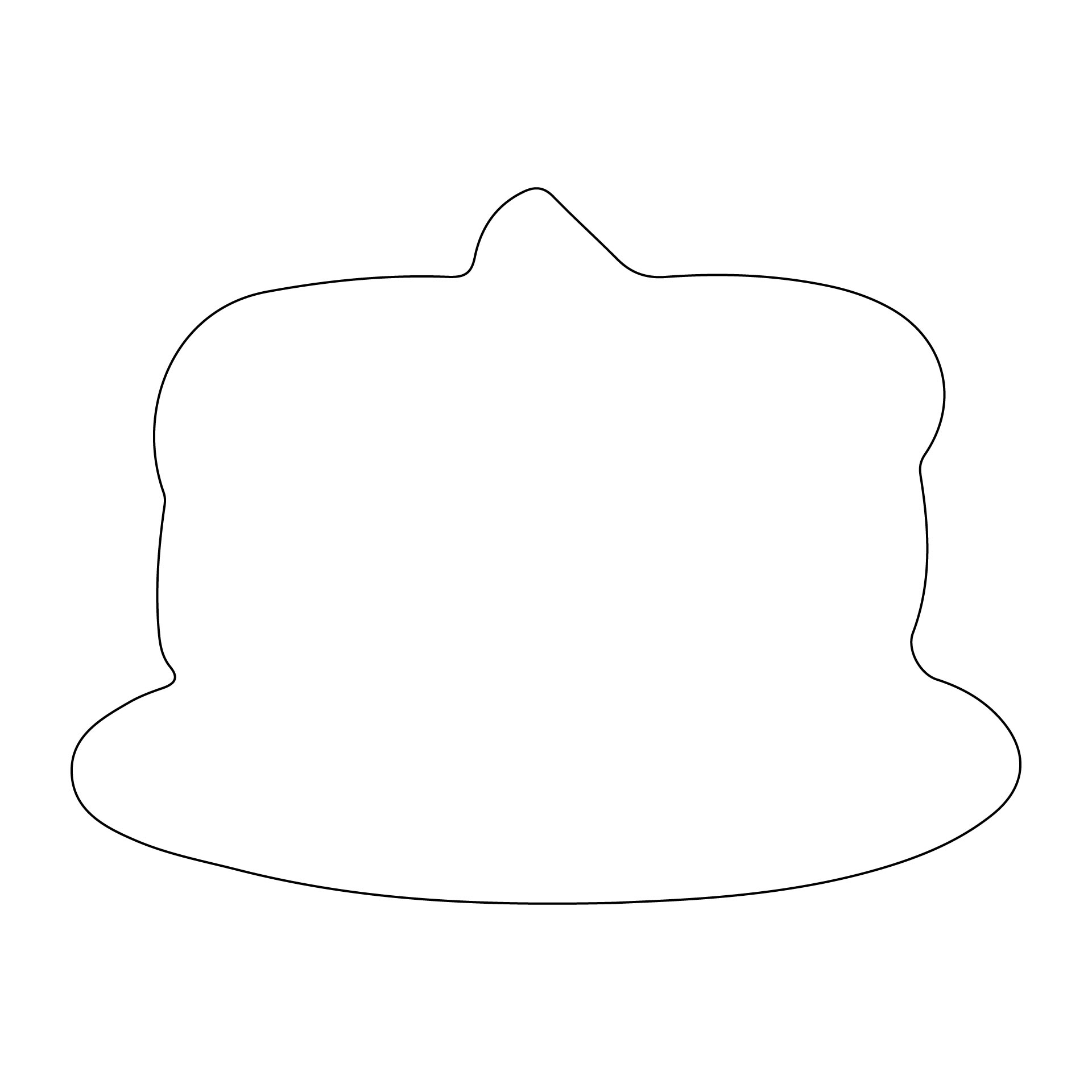 Cupcake Cut Out Template