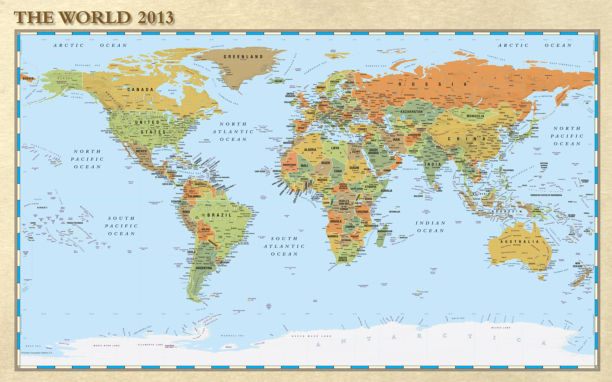 7 Images of Small Printable World Map