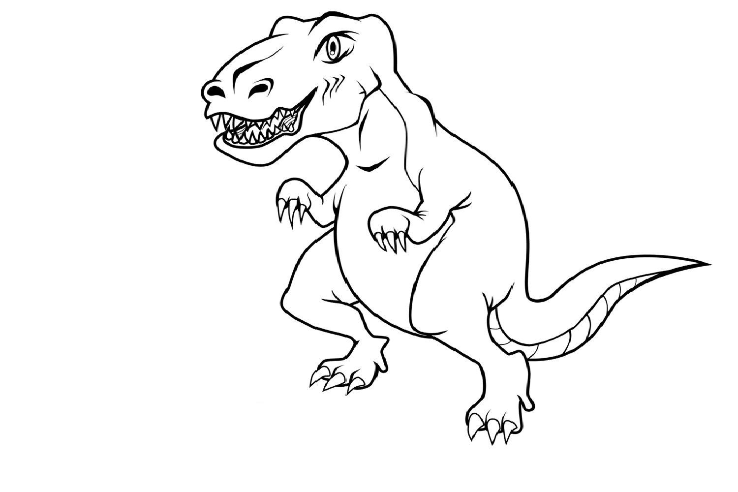 5 Images of Free Printable Dinosaur Coloring