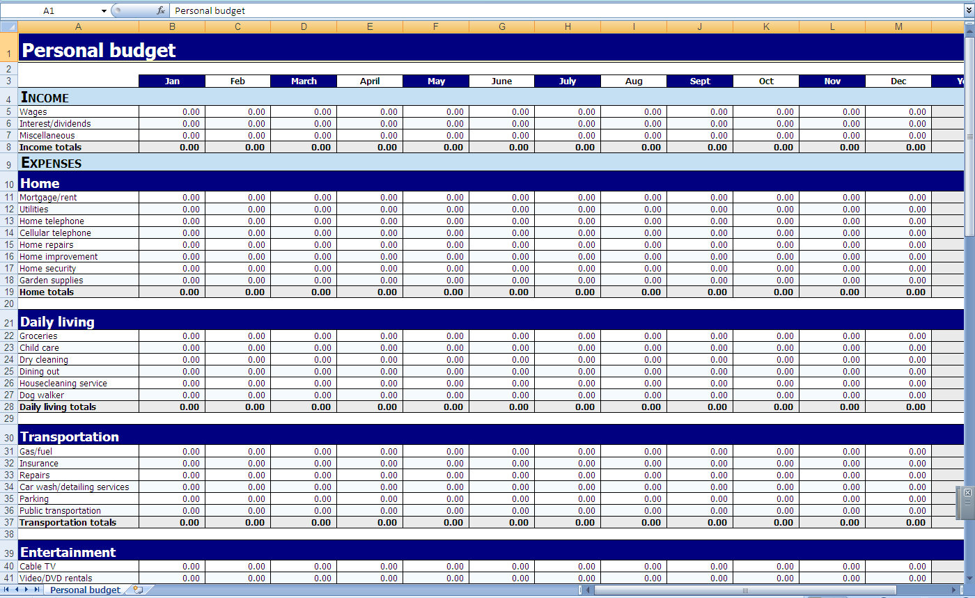 6 Images of Printable Monthly Budget Worksheet Excel