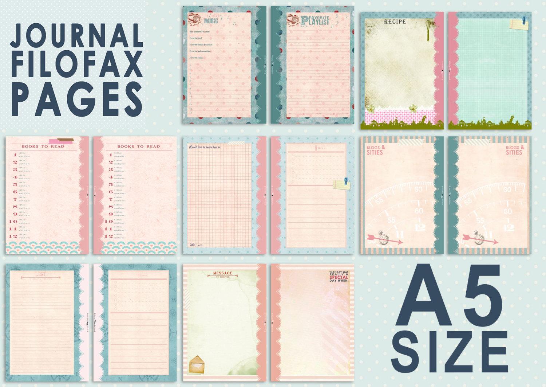 Filofax Personal Size Printables