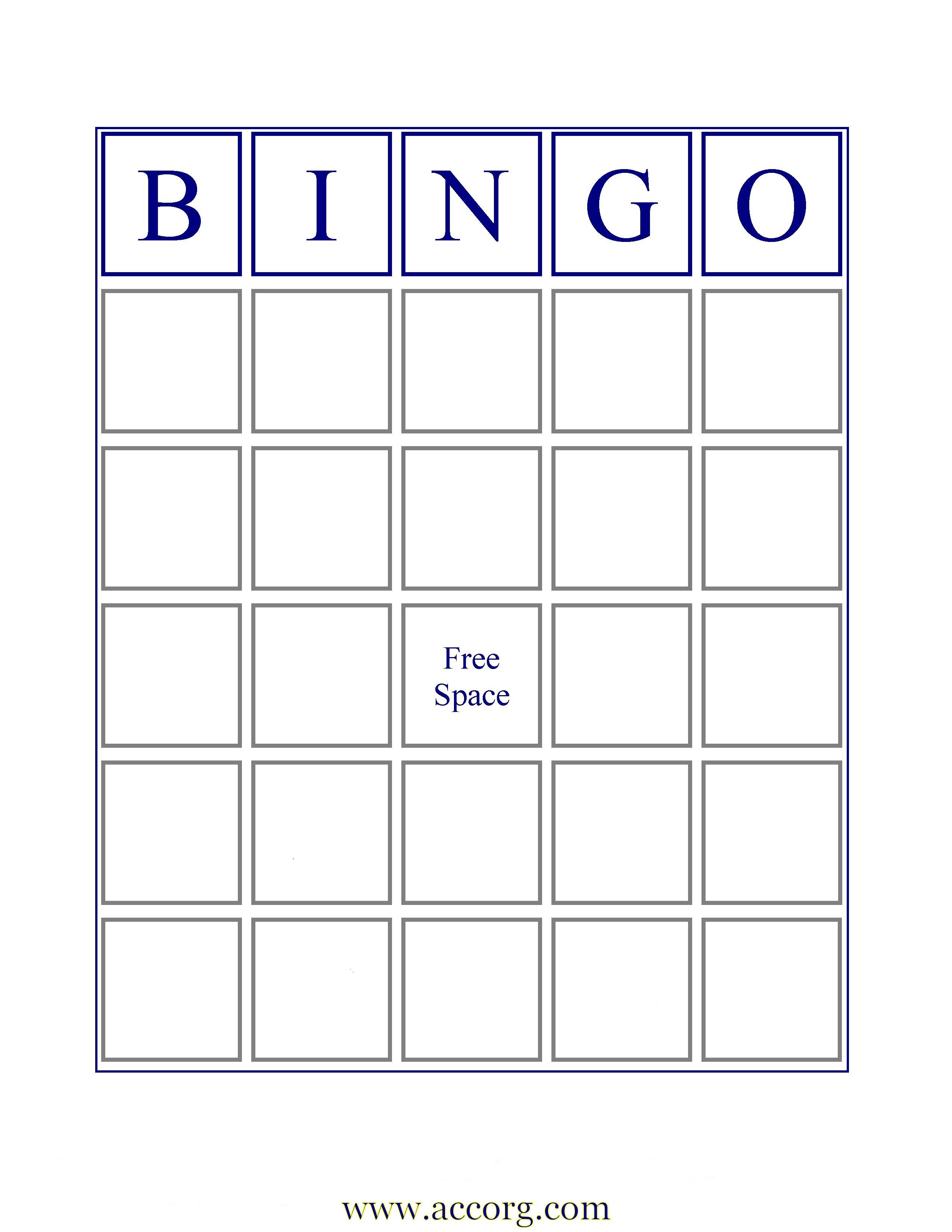 6 Images of Empty Bingo Cards Printables
