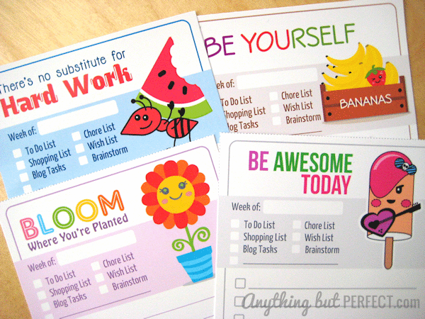 7 Images of Free Printable Lists For Moms