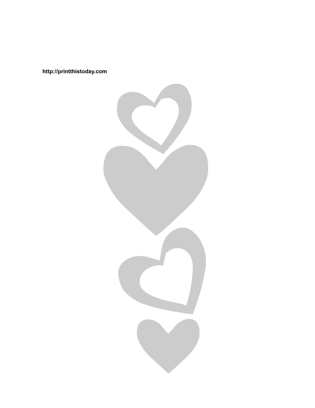 Free Heart Printable Border Stencils