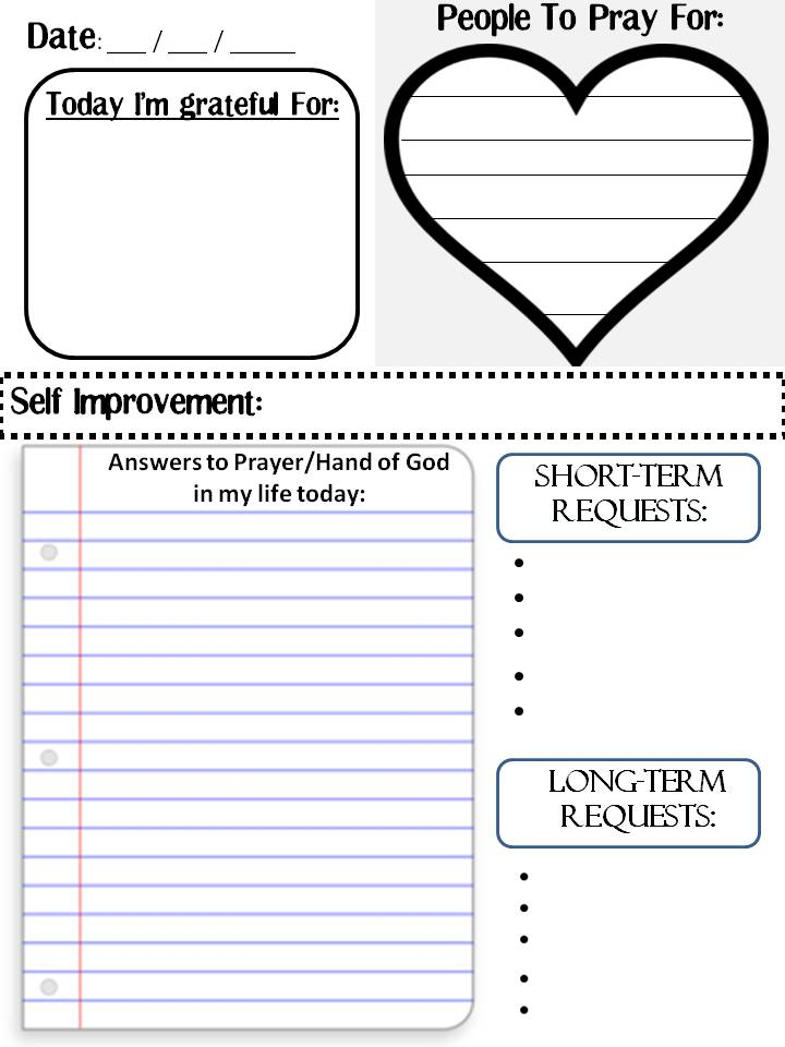 4 Images of Free Printable Prayer List