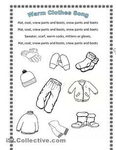 math worksheet : weather clothes worksheets kindergarten  english teaching  : Winter Worksheets For Kindergarten