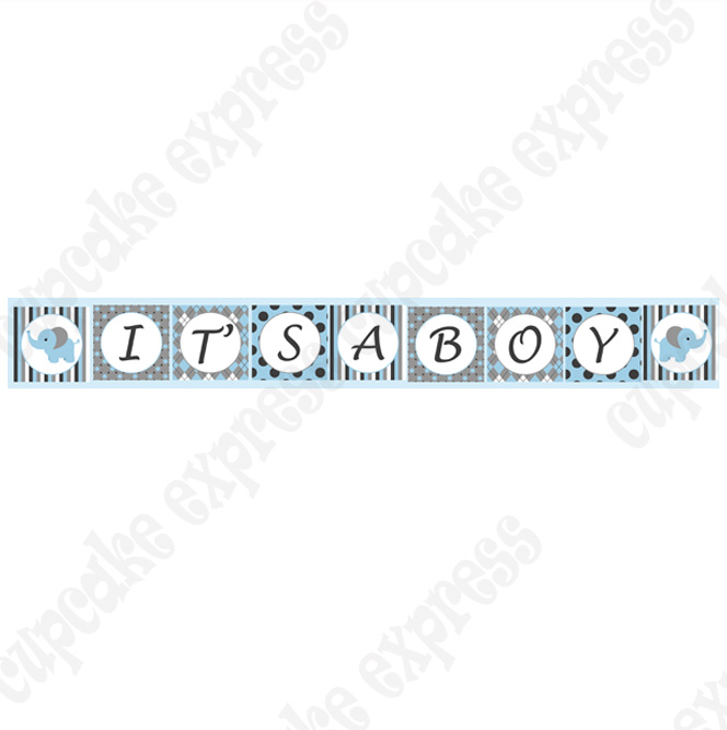 5 Images of It's A Boy Banner Printable