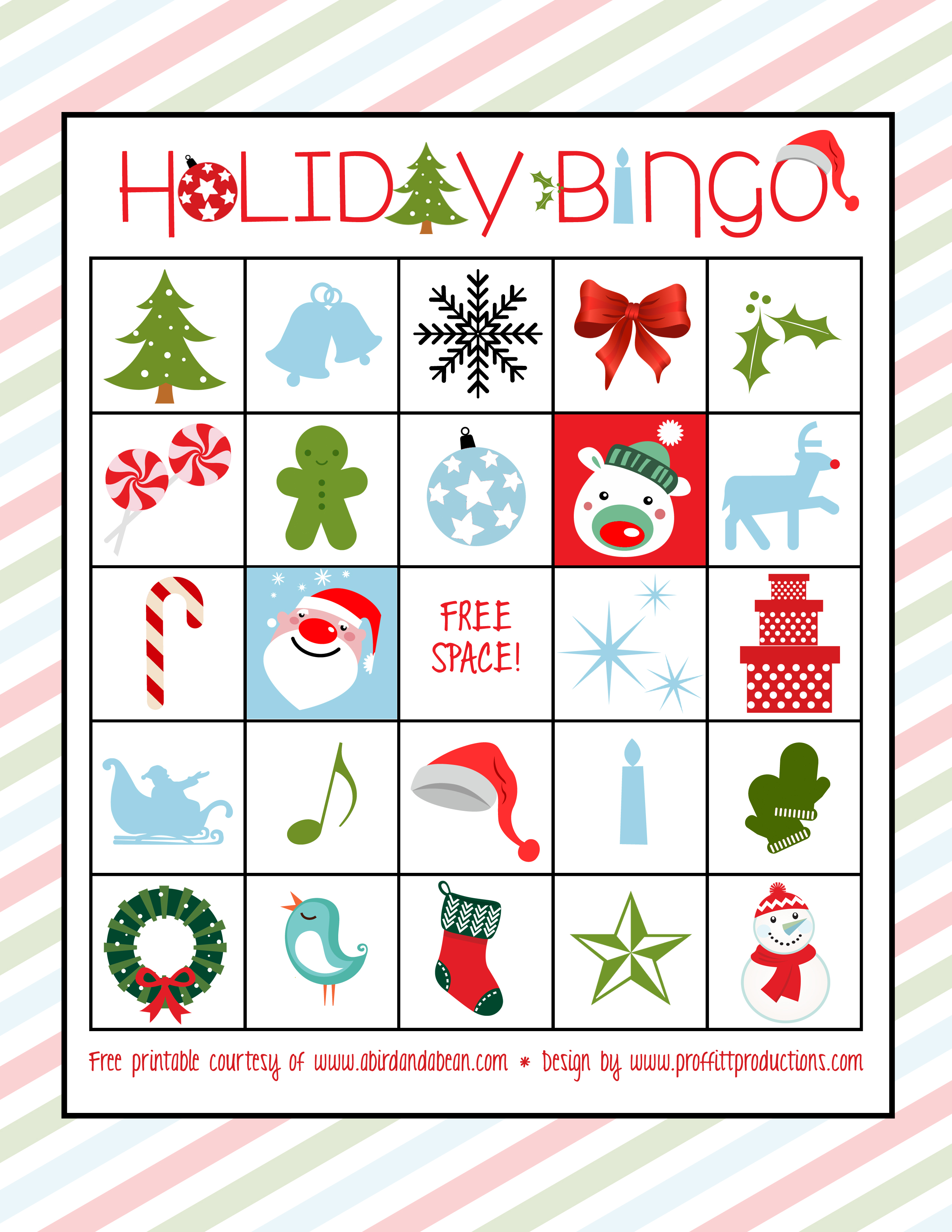 This is a graphic of Holiday Bingo Printable for set
