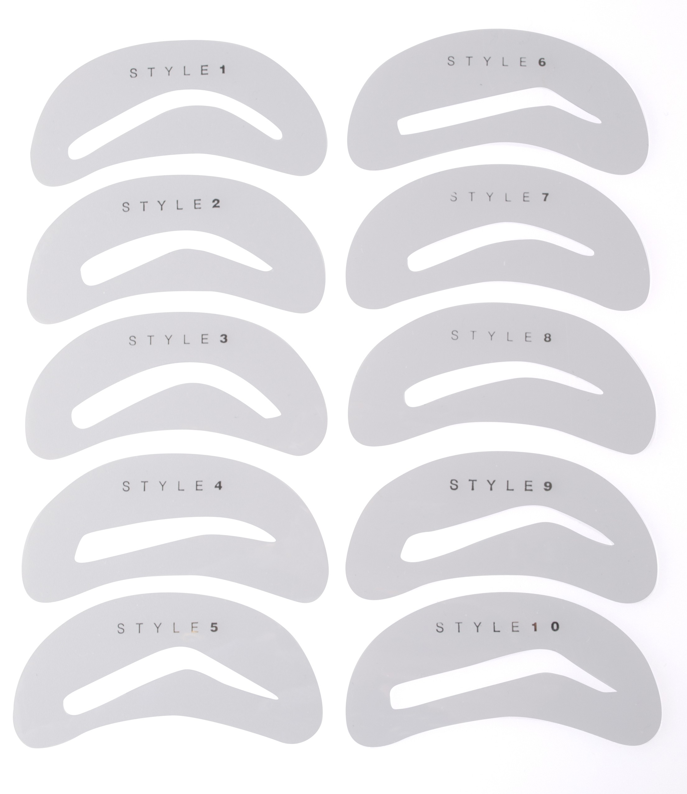 5 Images of Free Online Printable Eyebrow Stencils