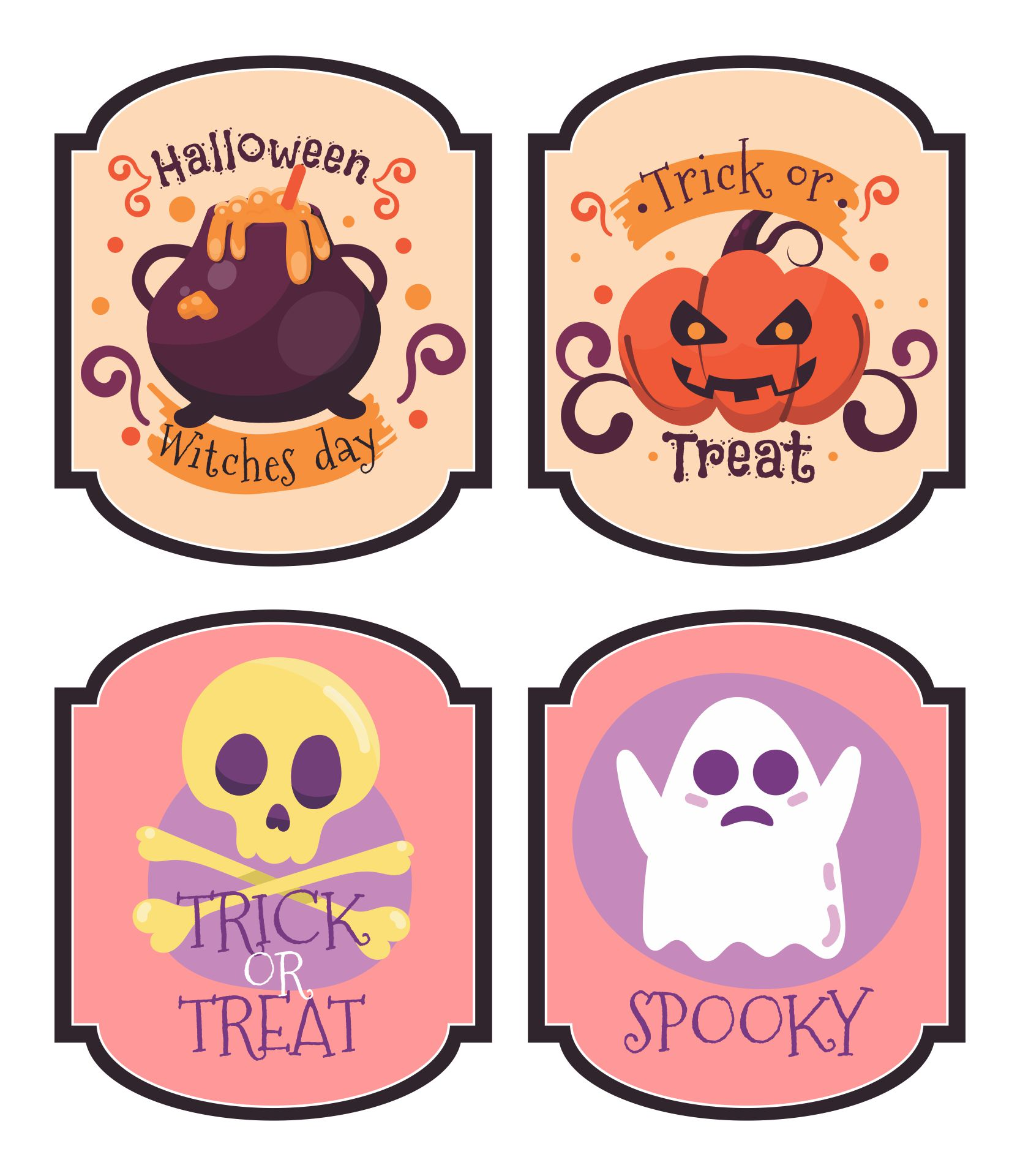 6 Images of Halloween Drink Labels Printables